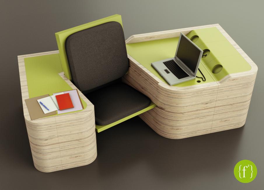Multi Functional Furniture f²} - a multifunctional furniture - flaminia zannotti